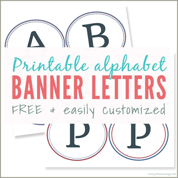 Free Printable Large Letters For Signs
