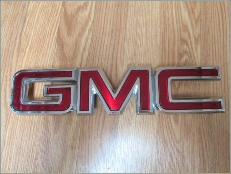 Gmc Acadia Grill Letters