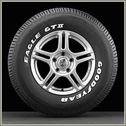 Goodyear Eagle Gt White Letter