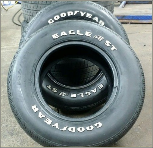 Goodyear Eagle St White Letter Tires