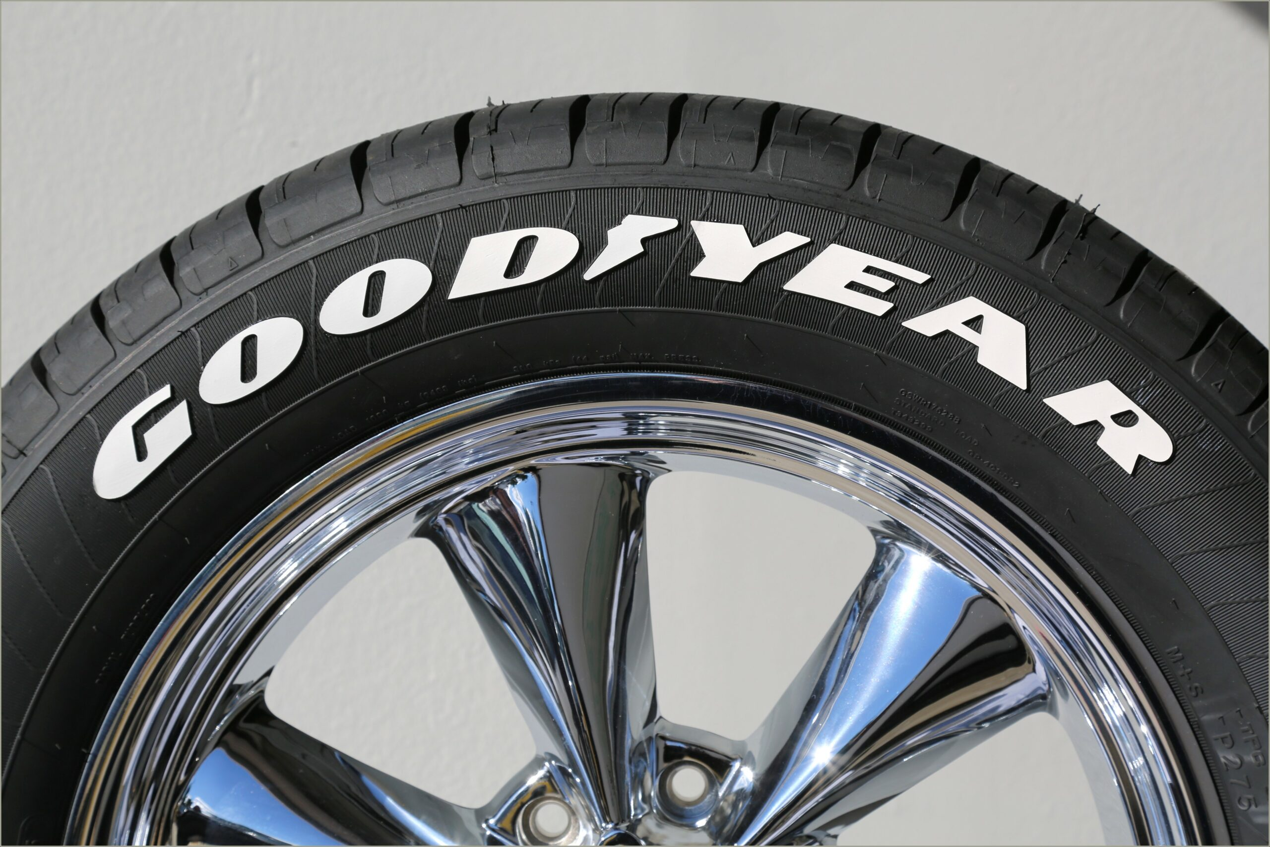 Goodyear White Letter Tires Stickers