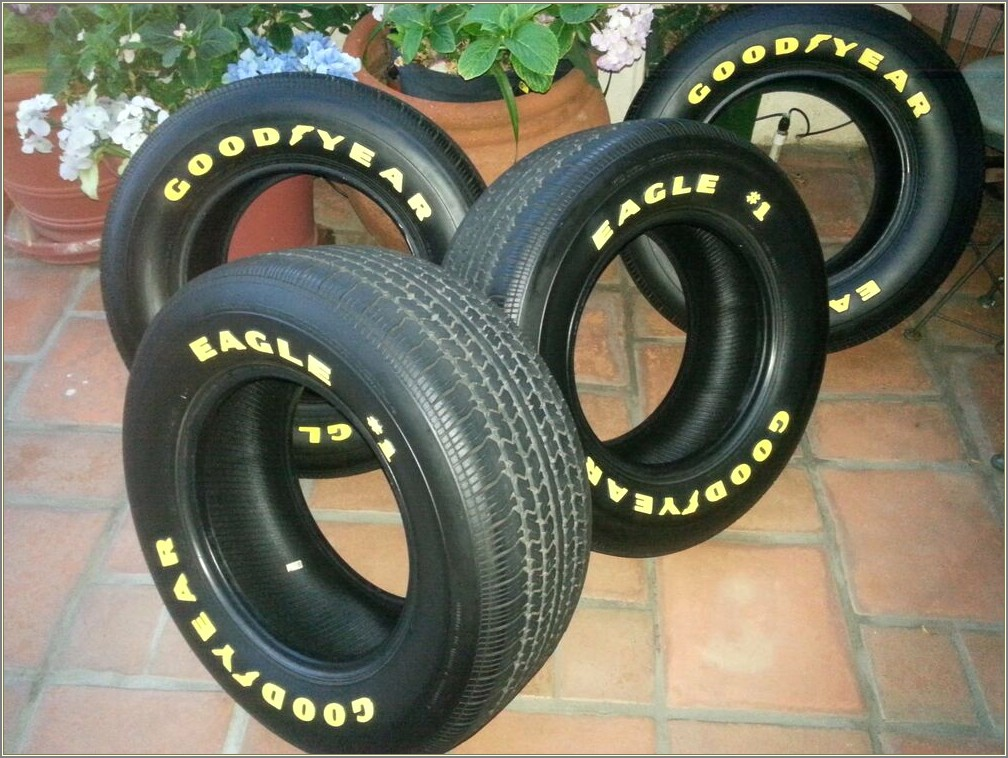 Goodyear Yellow Letter Tires