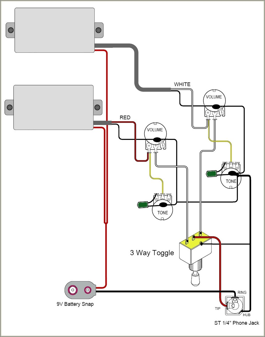 Guitar Wiring Diagrams 1 Pickup