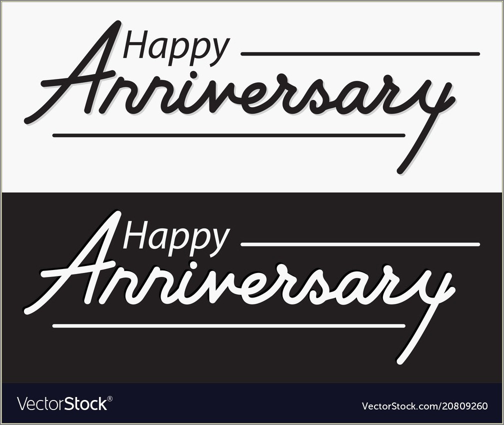 Happy 1st Anniversary Lettering