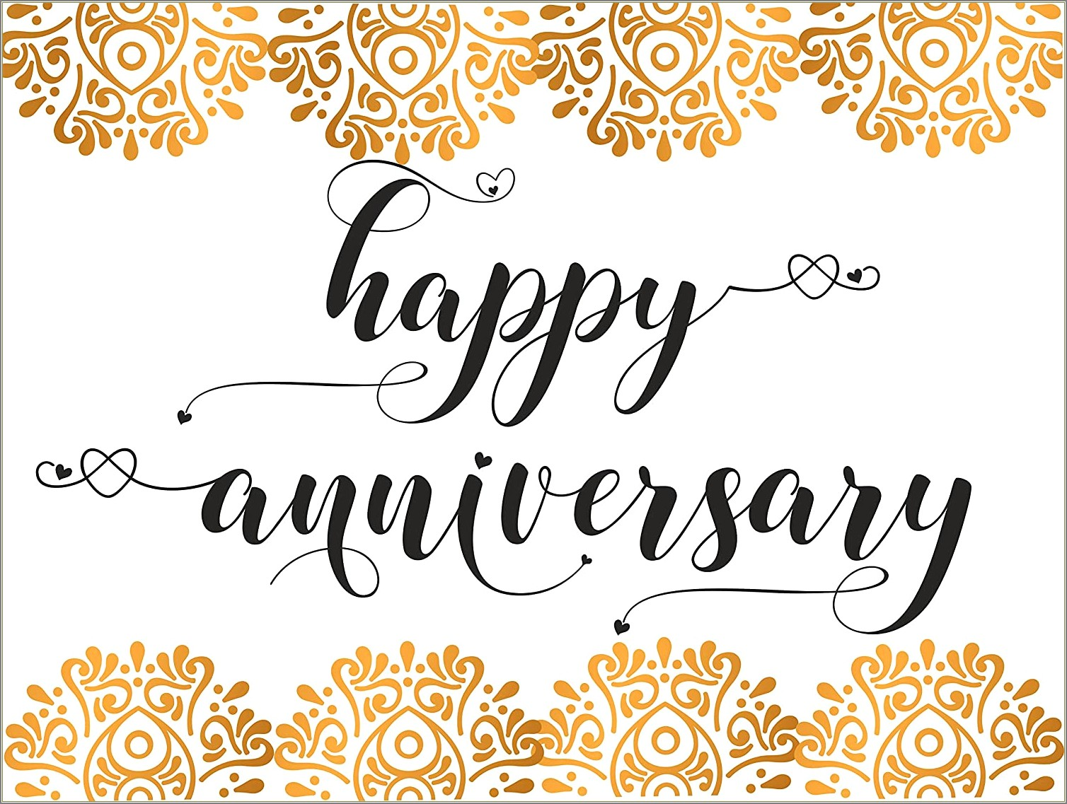 Happy Anniversary Hand Lettering