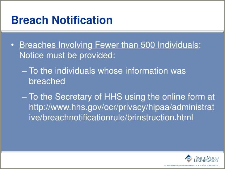 Hipaa Breach Notification Letter Requirements