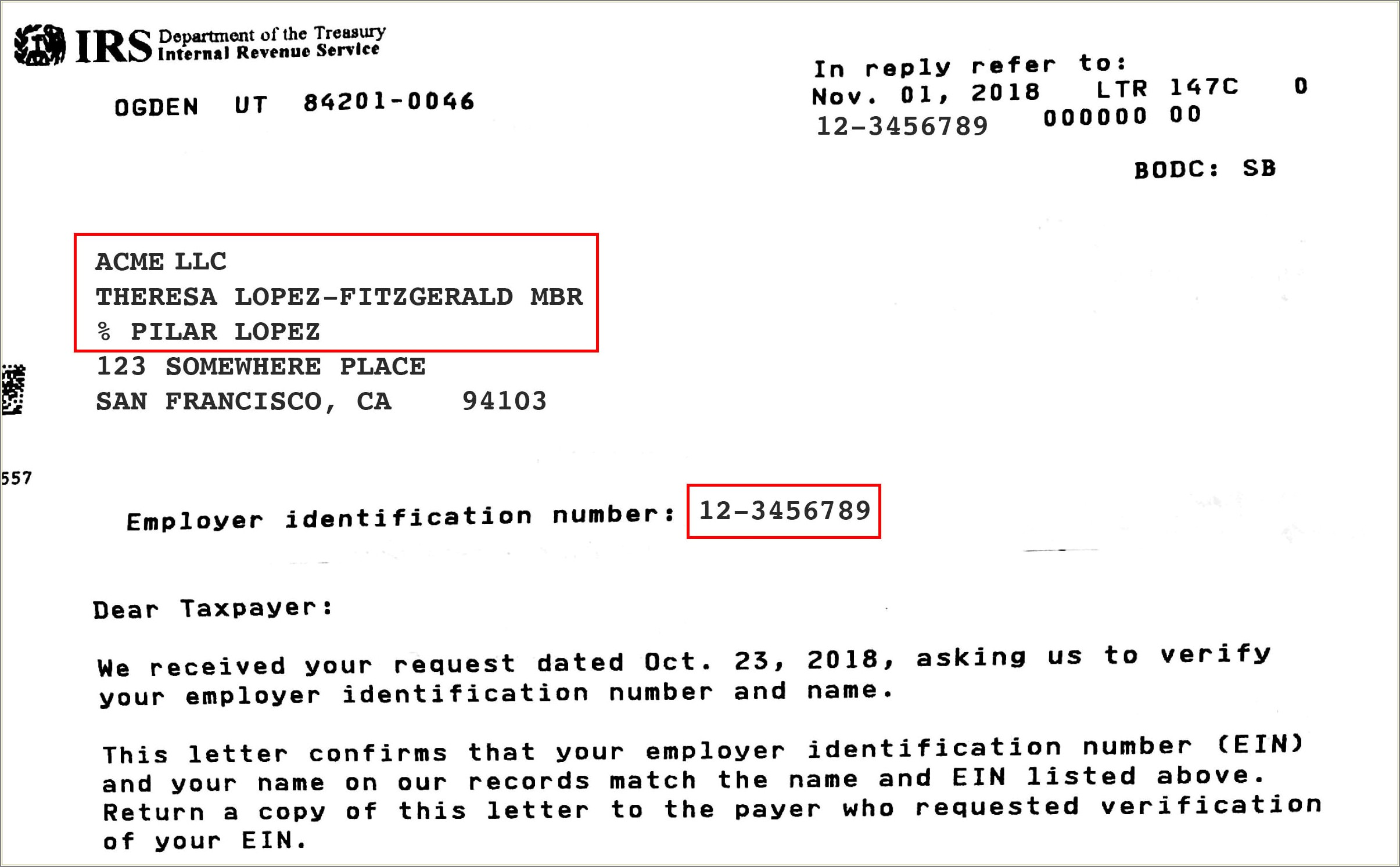 Irs Tax Letter 147c