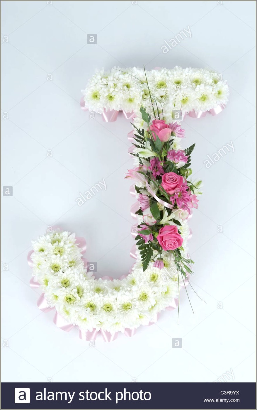 J Letter Images With Flowers