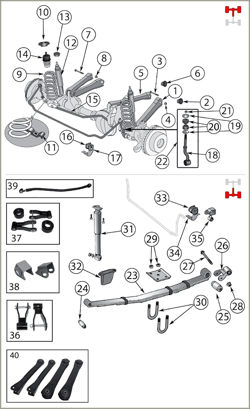 Jeep Tj Rear Suspension Diagram