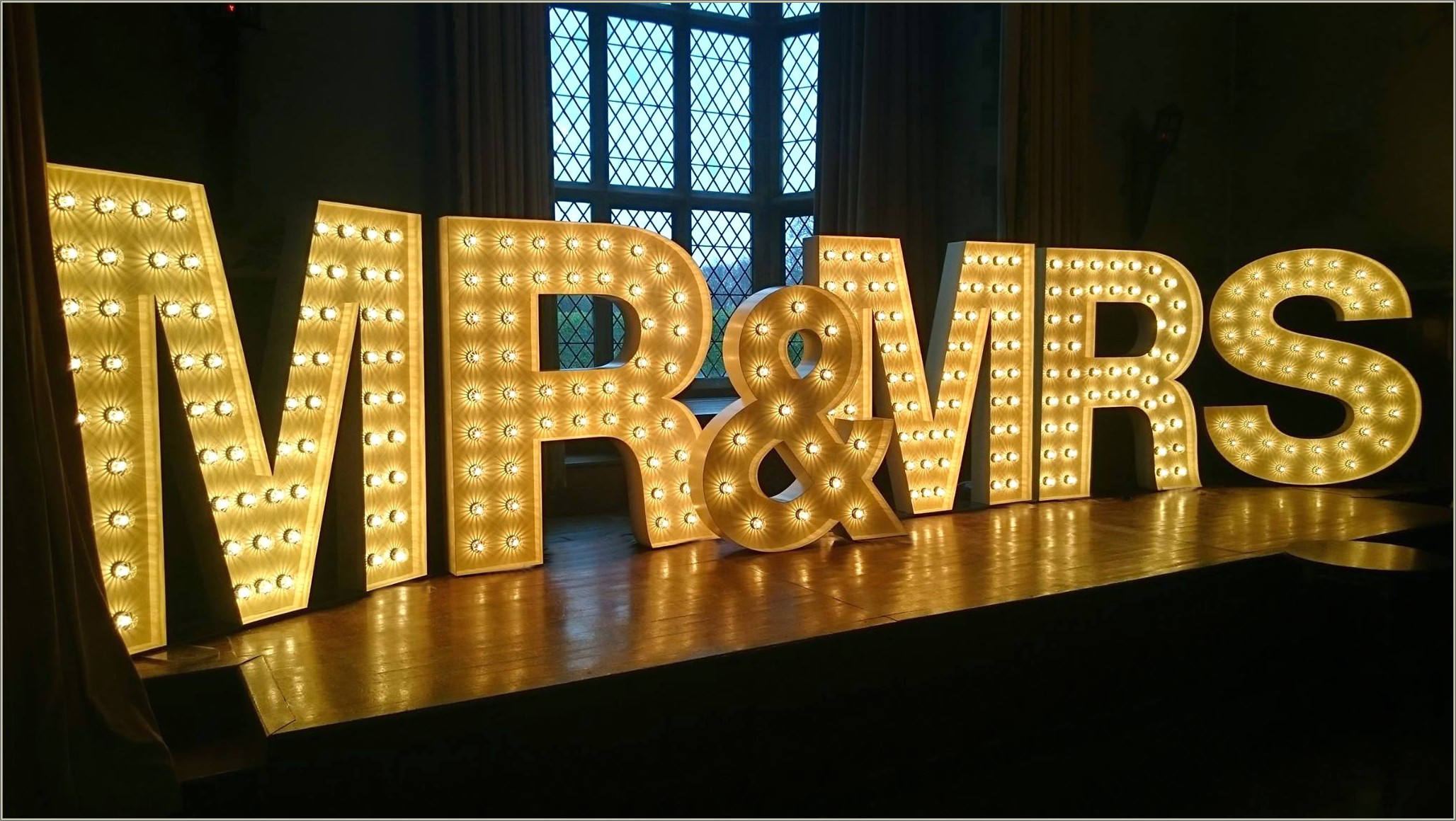 Large Block Letters With Lights