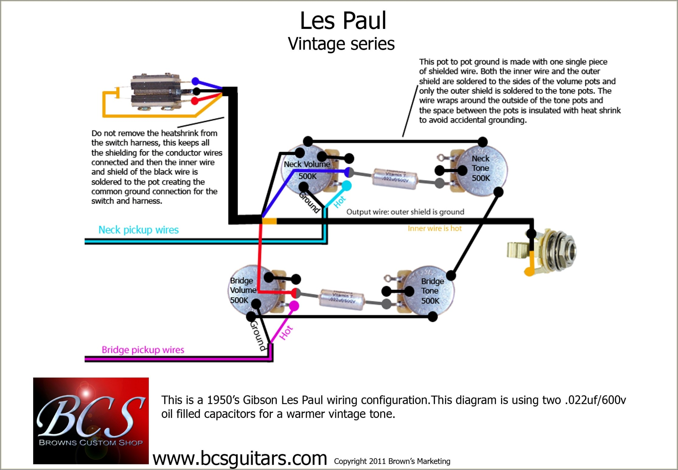 Les Paul P90 Wiring Diagram