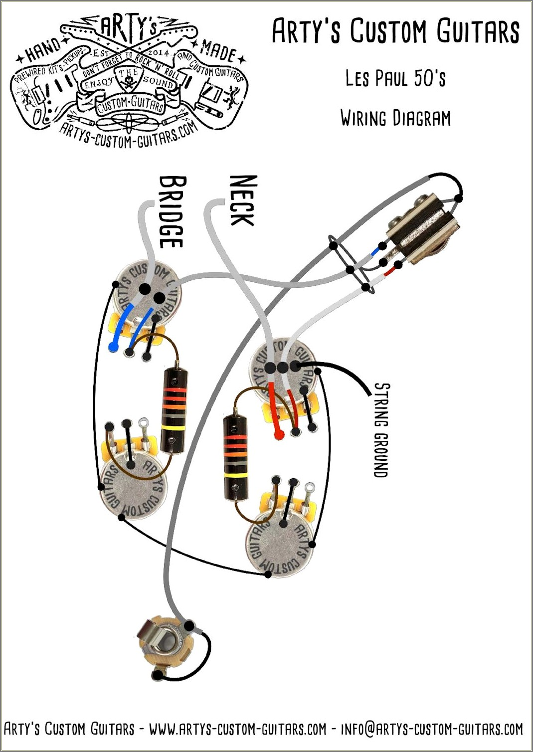Les Paul Wiring Diagram 50s