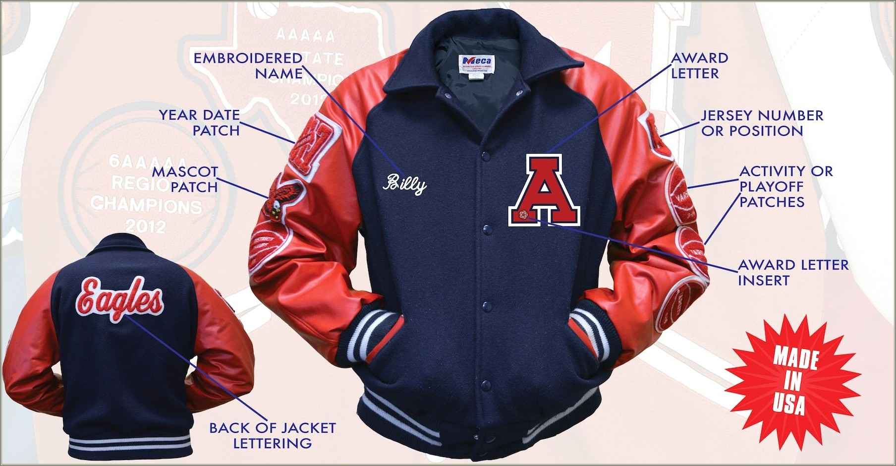 Letterman Jacket Letters And Numbers