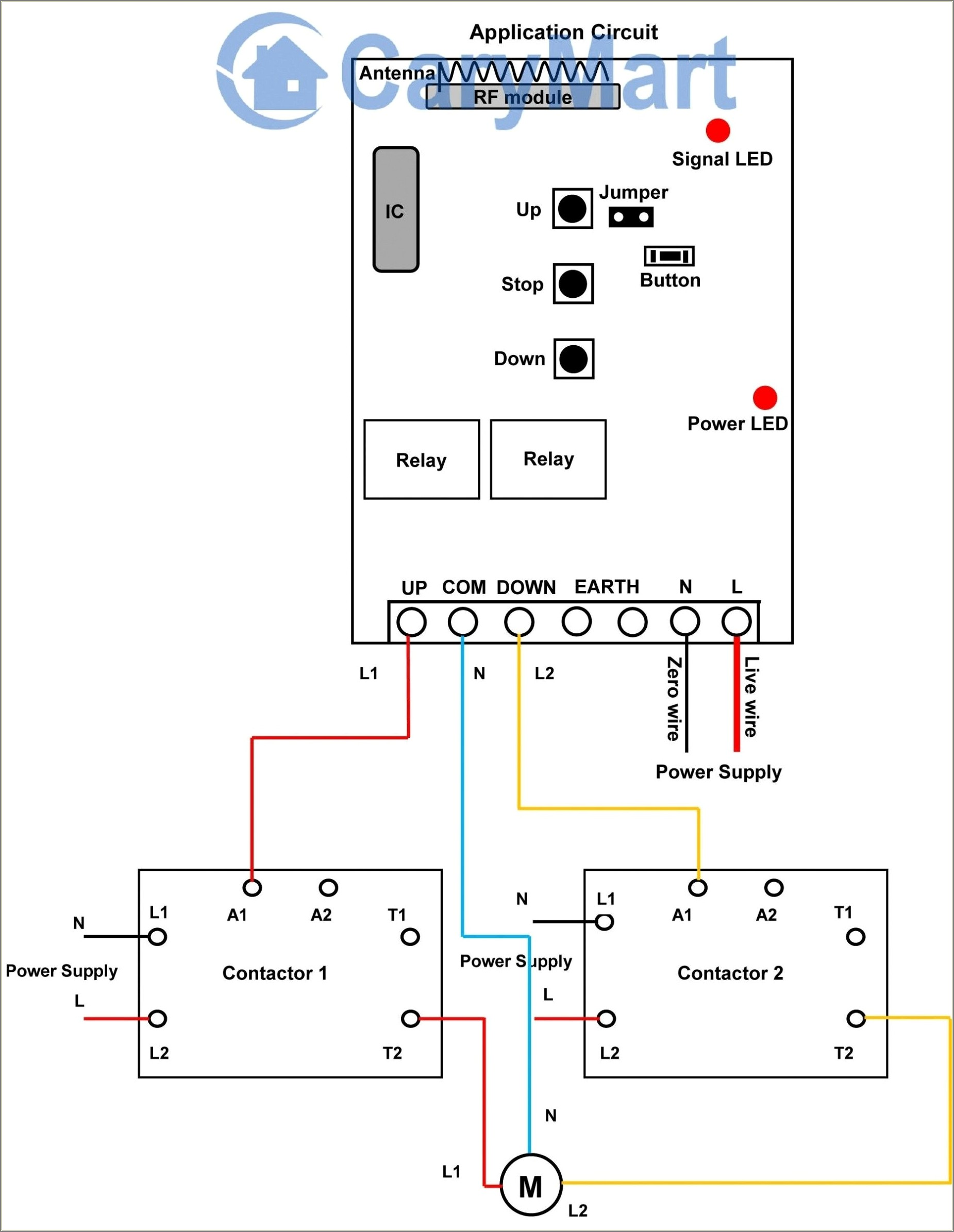 Lighting Contactor Wiring Diagram With Timer