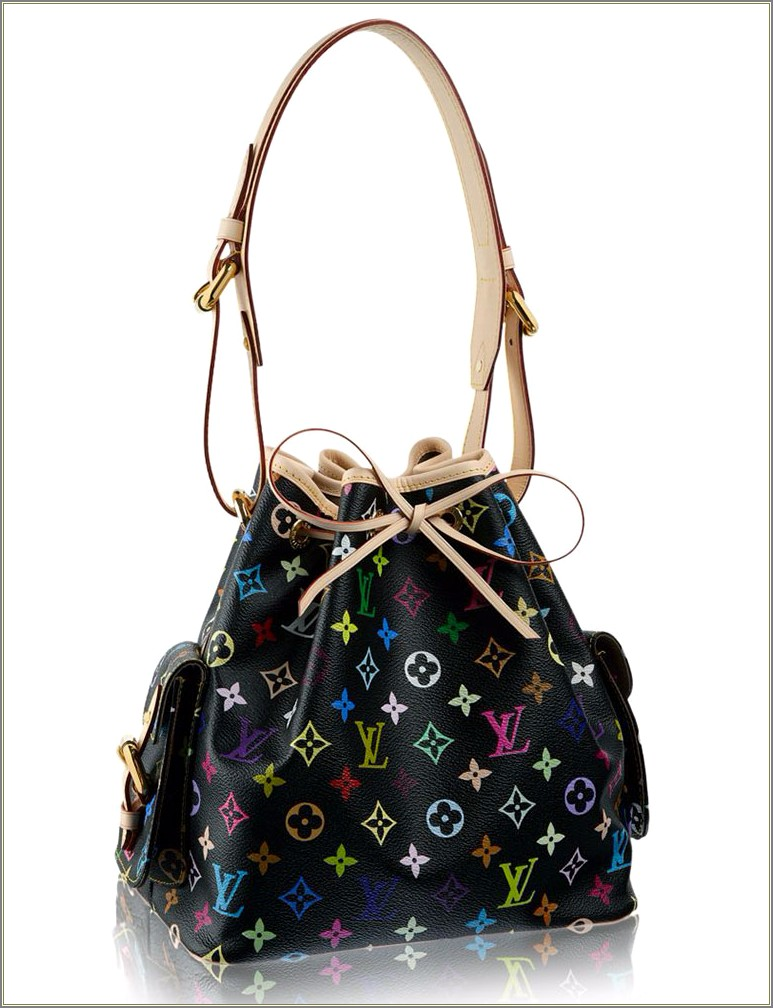 Louis Vuitton Black Bag With Colored Letters