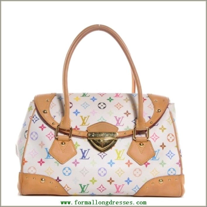 Louis Vuitton White Bag With Colored Letters