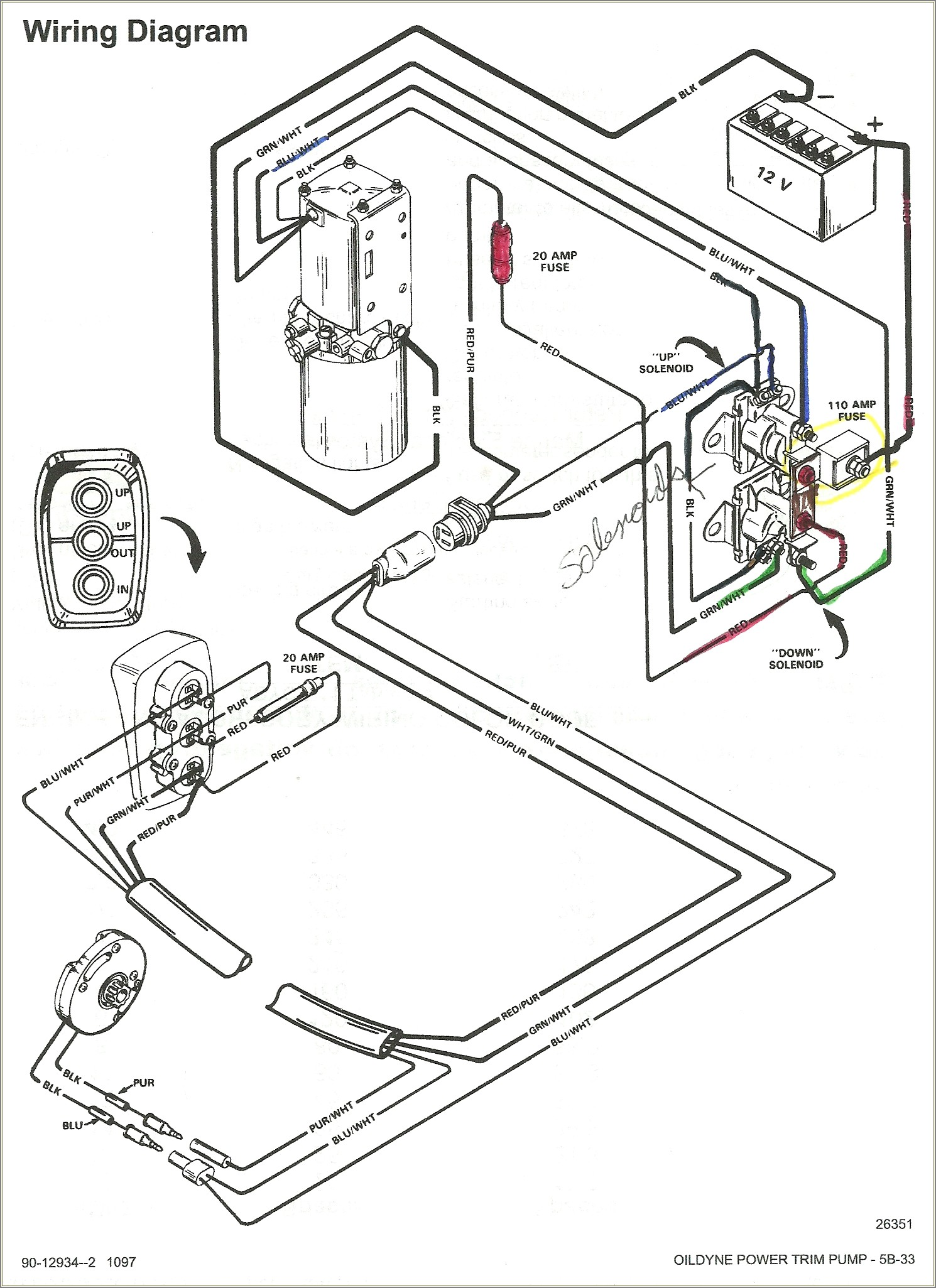Mercruiser Tilt Trim Wiring Diagram