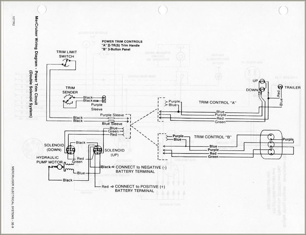 Mercruiser Trim Limit Switch Wiring Diagram