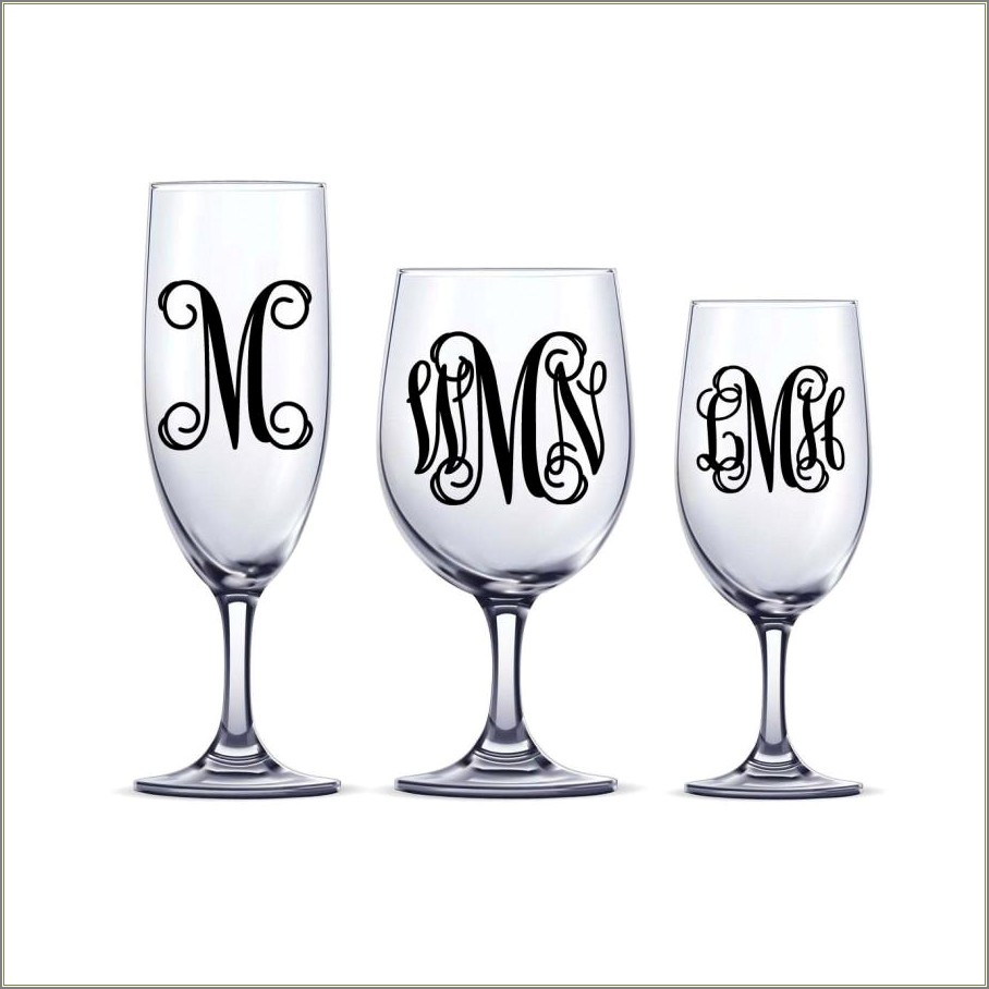 Monogram Letter Stickers For Glass