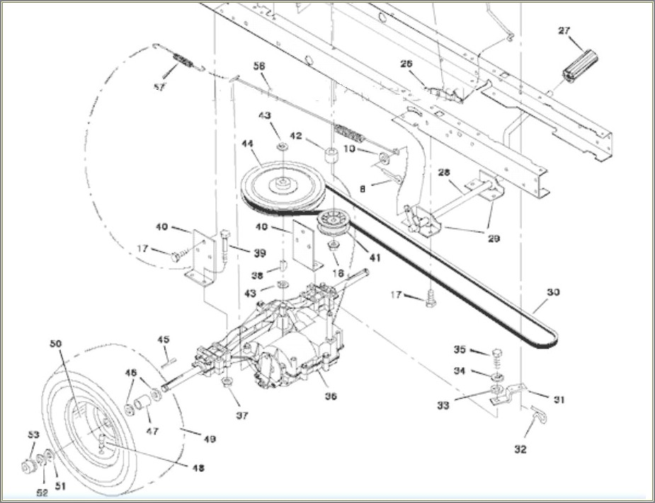 Murray Riding Lawn Mower Drive Belt Diagram