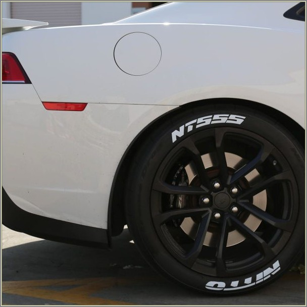 Nitto Racing Tires White Letters