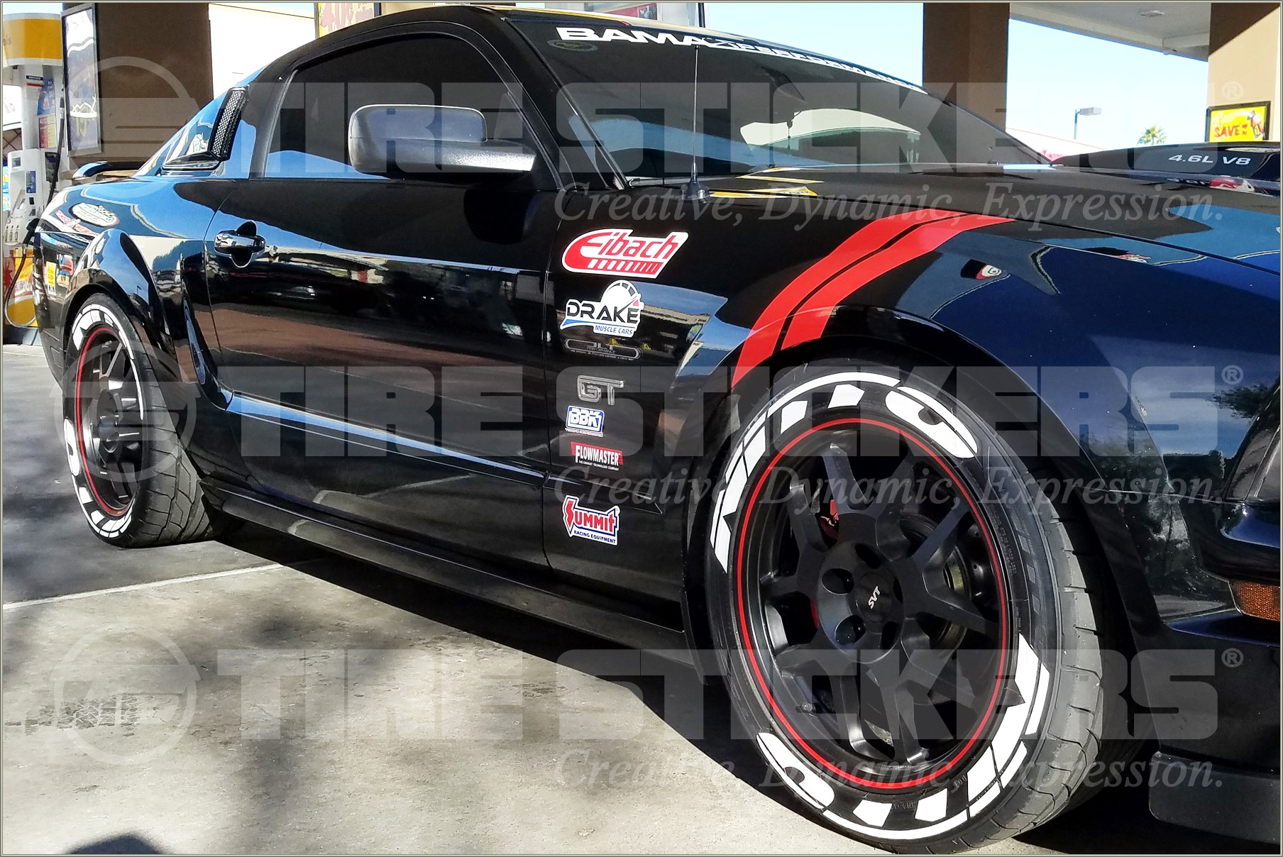 Nitto White Letter Tires Mustang