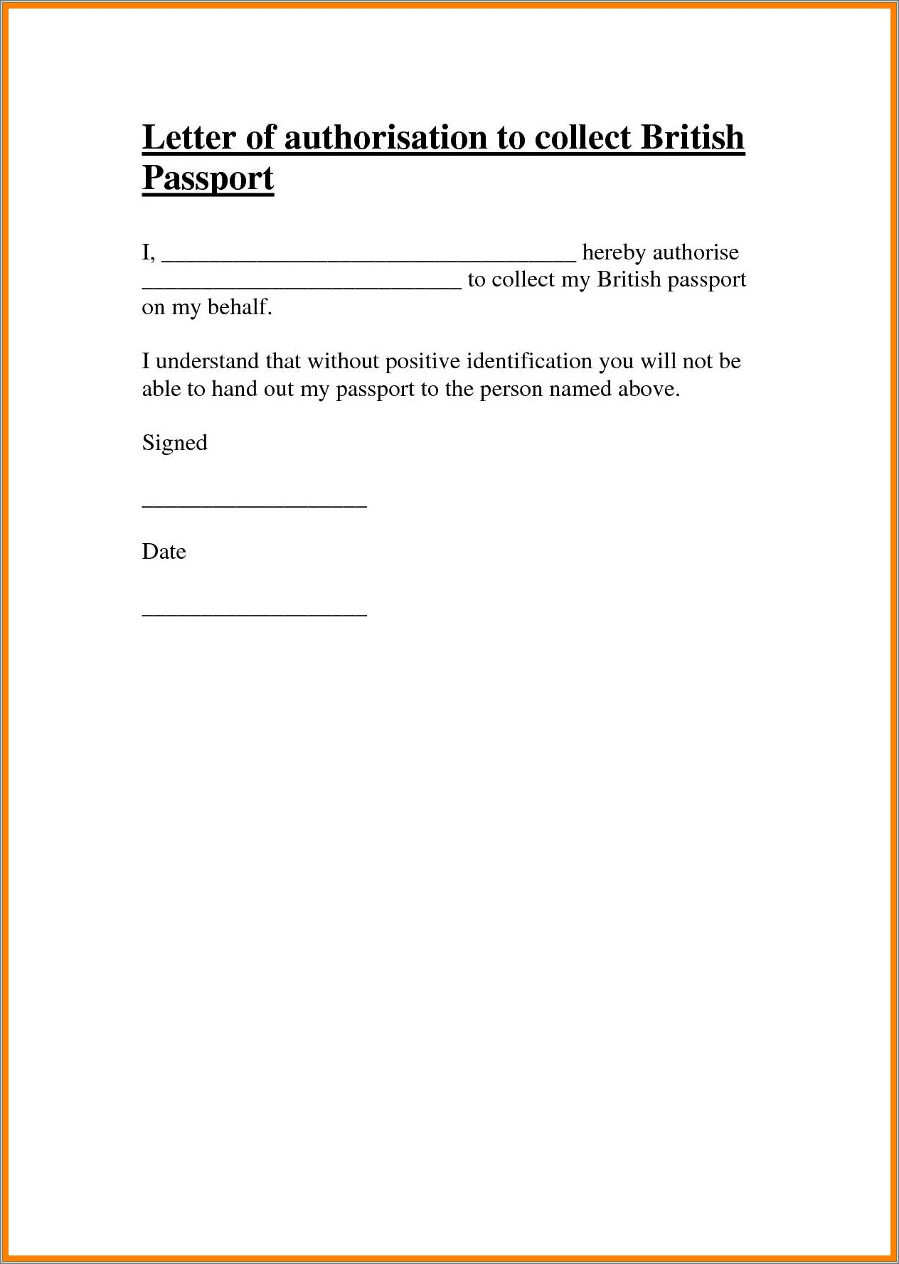 Notarized Authorization Letter Sample
