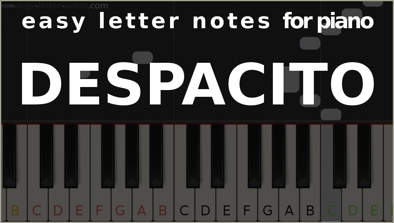 Piano Letter Notes For Beginners