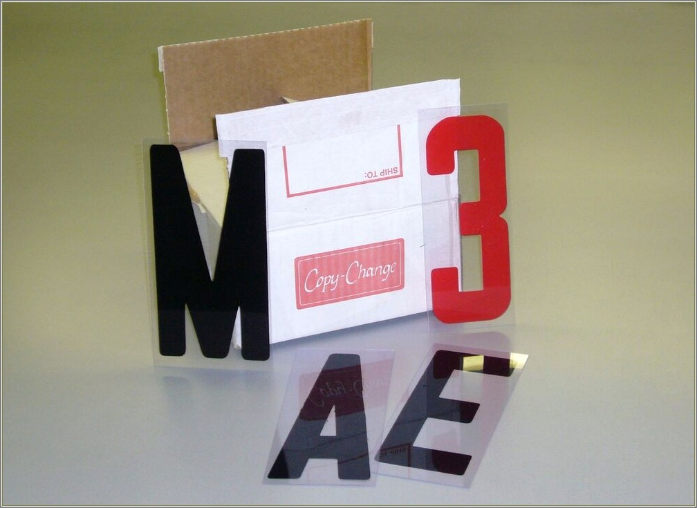 Plastic Changeable Sign Letters