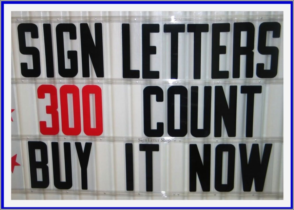 Portable Outdoor Changeable Letter Signs