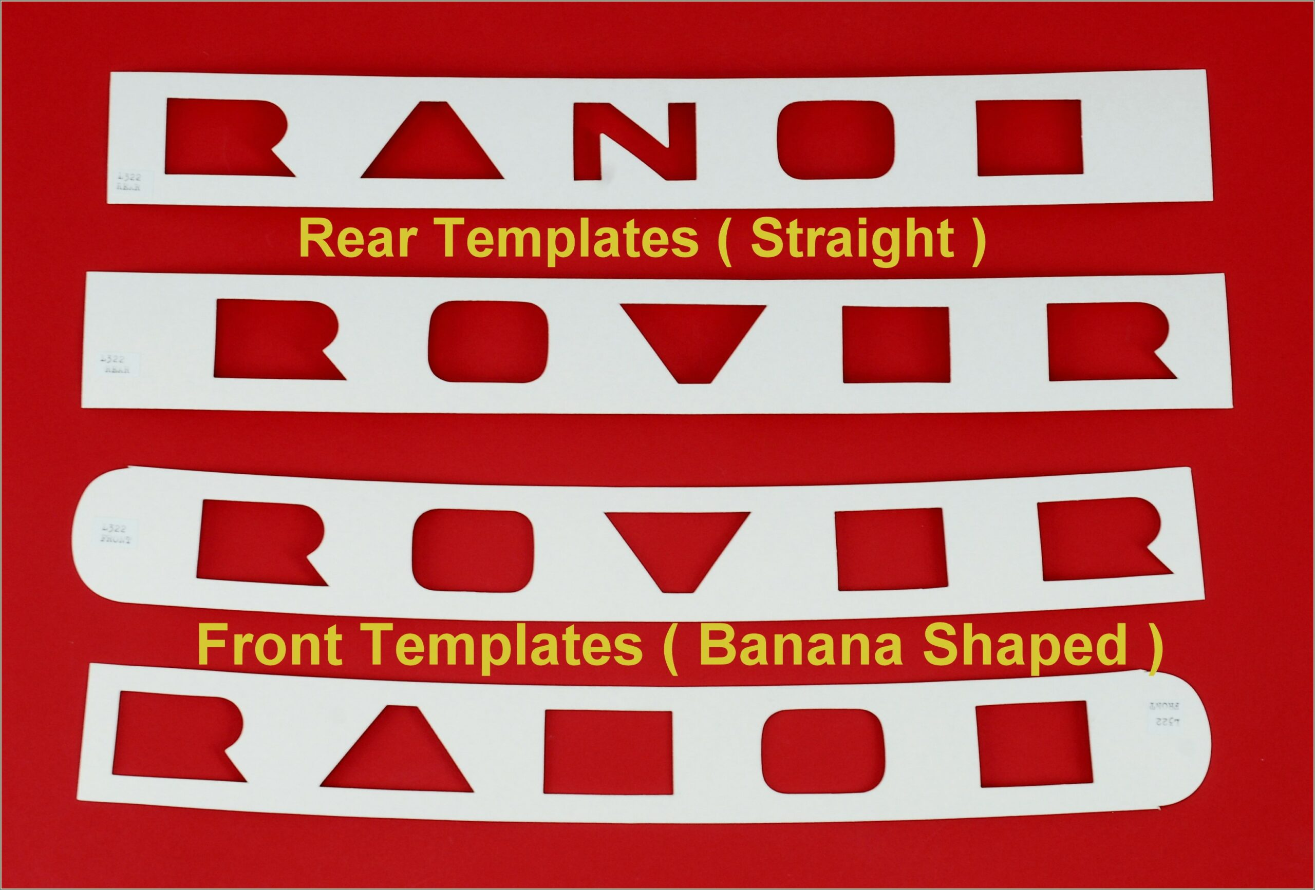 Range Rover Evoque Lettering Template