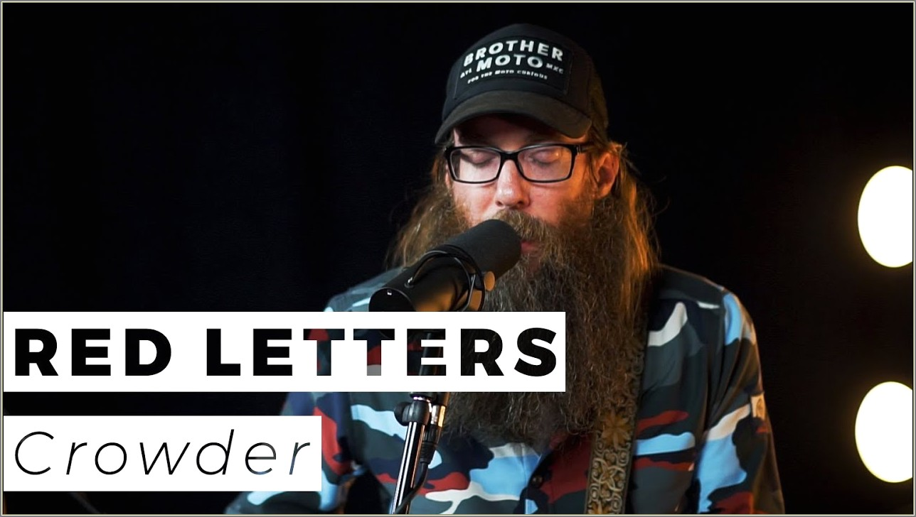 Red Letters Crowder Live