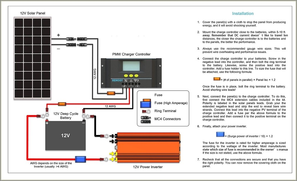 Renogy Solar Panel Wiring Diagram