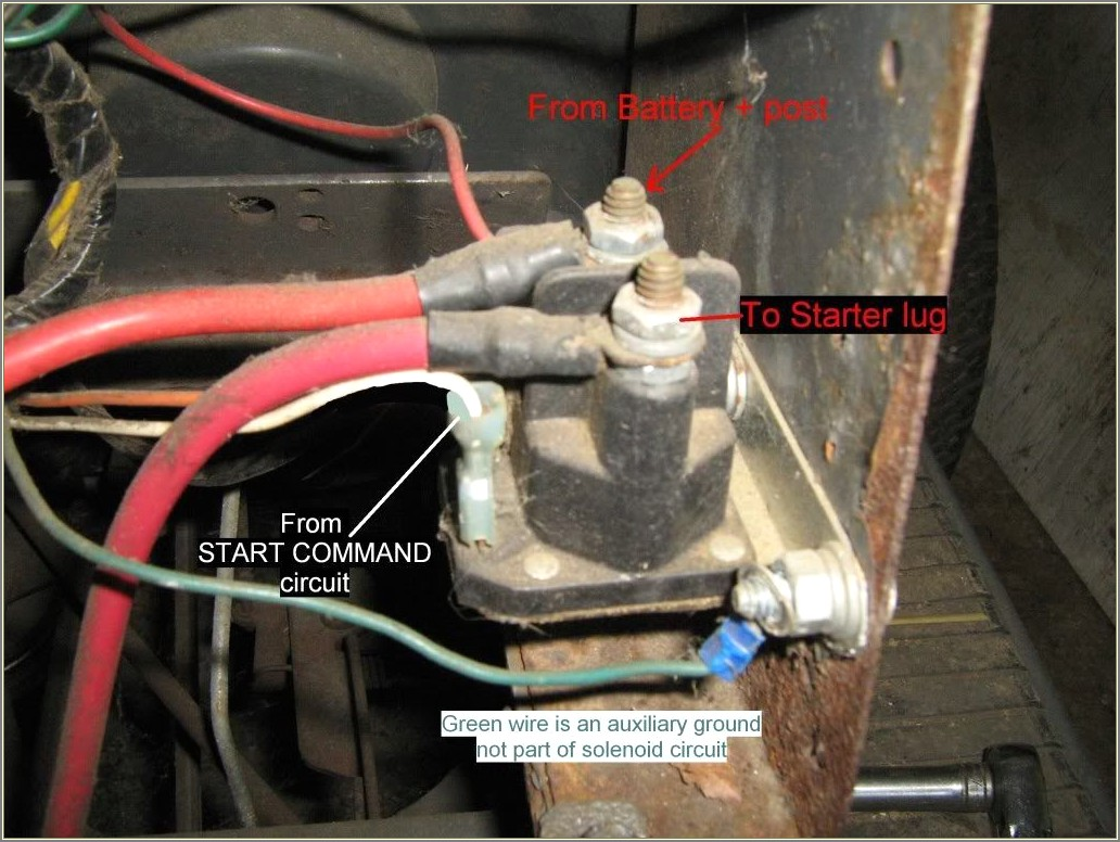 Riding Lawn Mower Starter Solenoid Wiring Diagram
