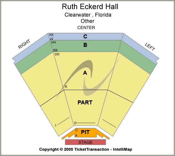 Ruth Eckerd Hall Seating Diagram