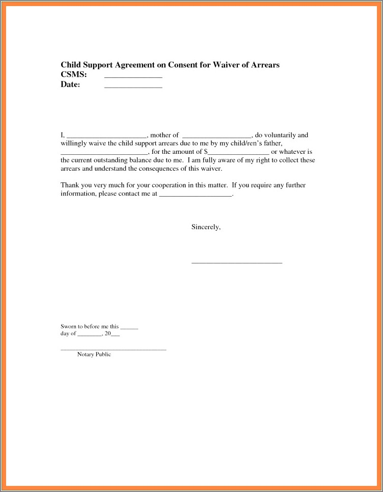 Sam Notarized Letter Template