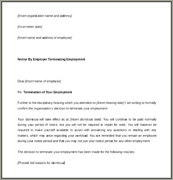 Sample Layoff Letter Ontario