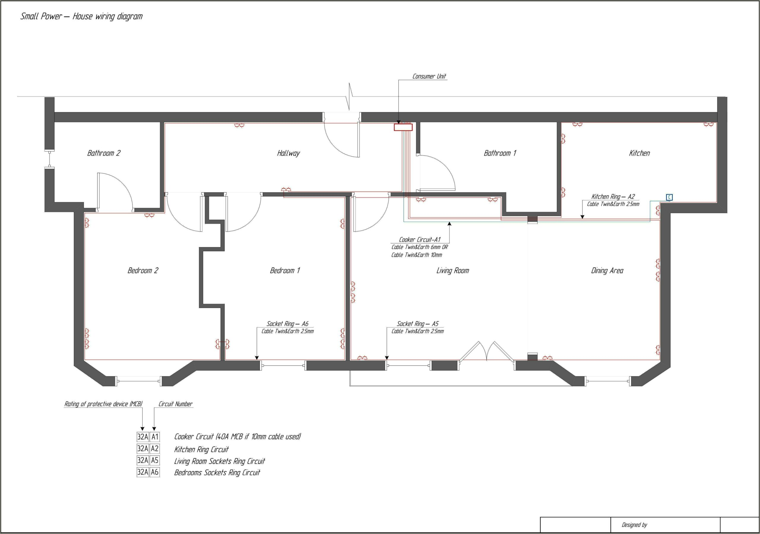 Schematic Diagram House Electrical Wiring