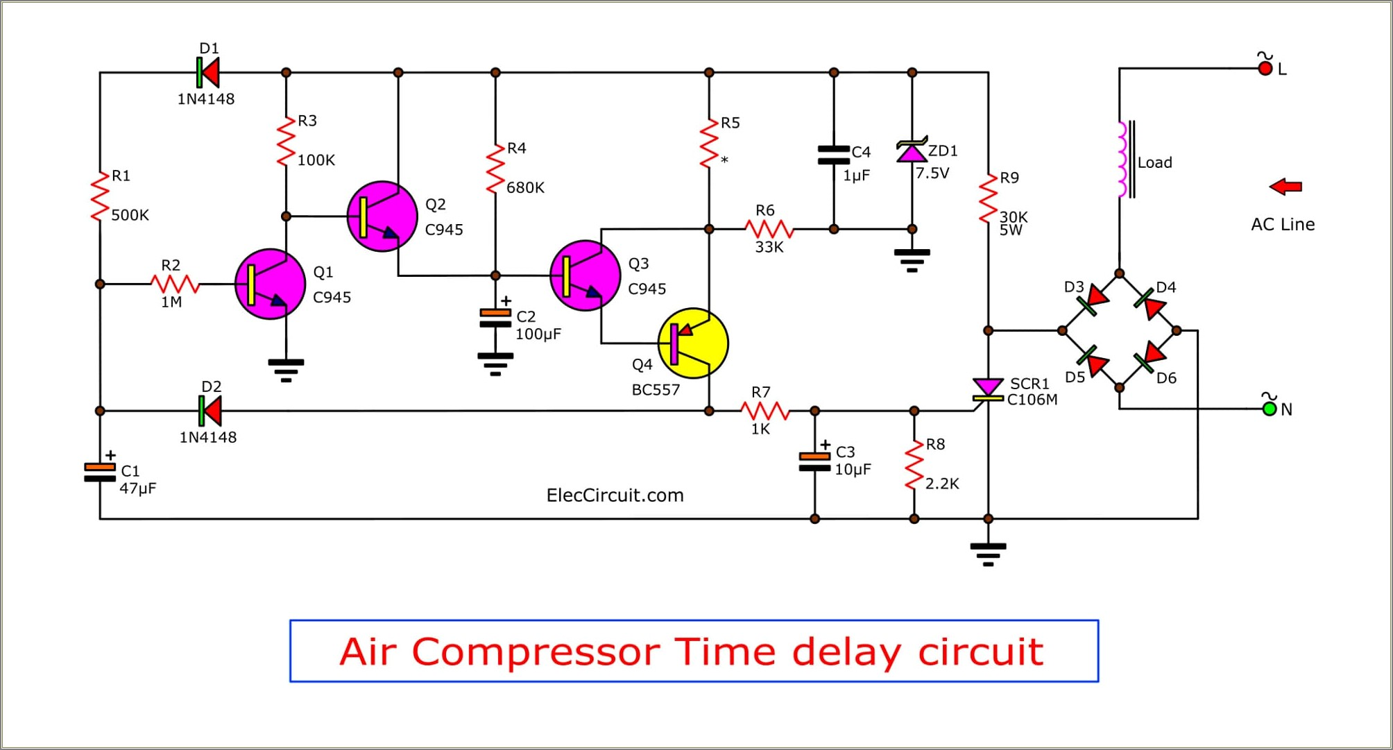 Schematic Diagram Of Air Compressor