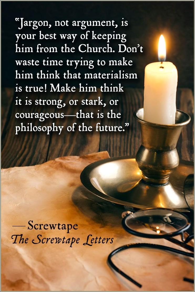 Screwtape Letters Quotes About God