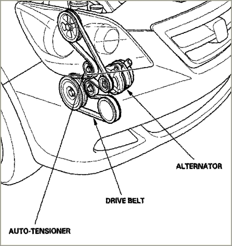 Serpentine Belt Diagram 2007 Honda Odyssey
