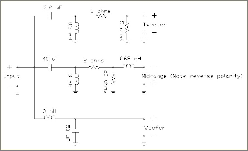 Speaker Crossover Network Circuit Diagram