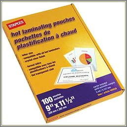 Staples Hot Laminating Pouches Letter Size