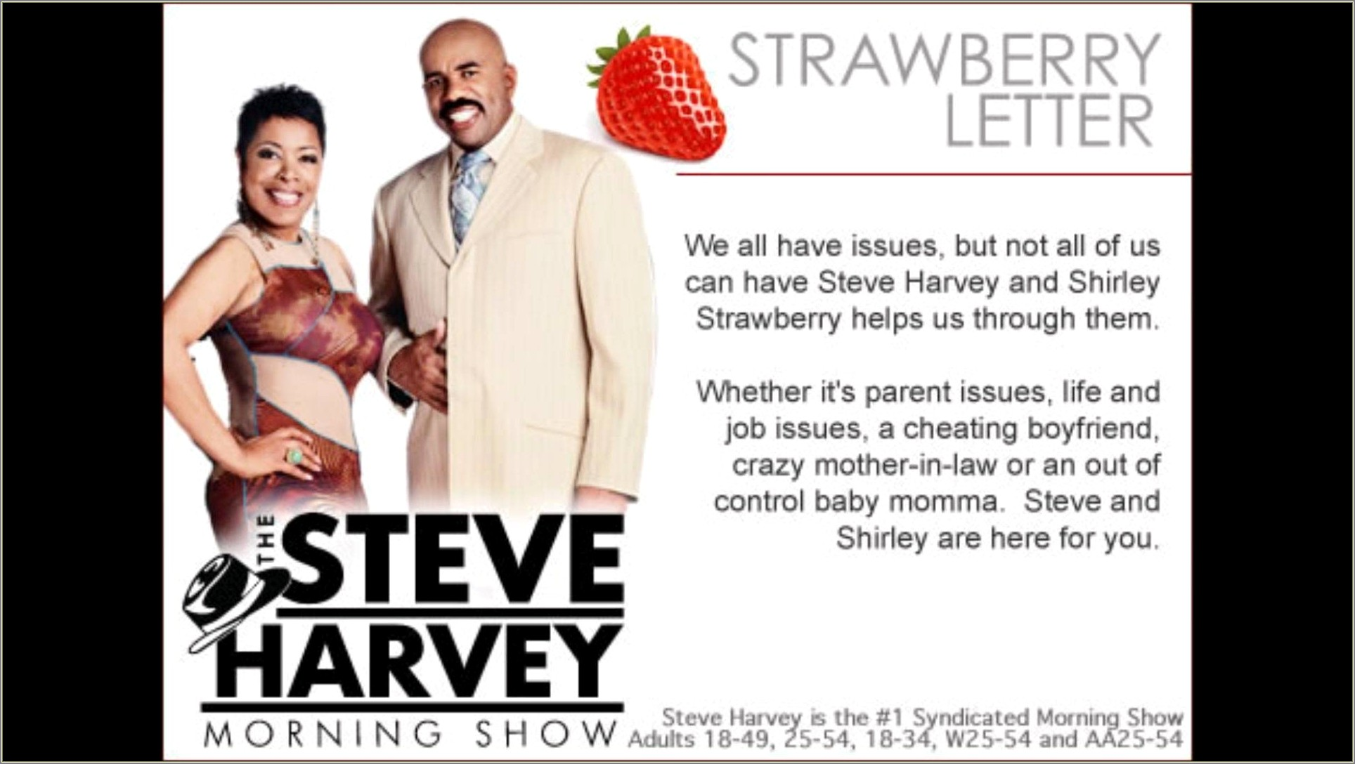 Steve Harvey Strawberry Letter Massage