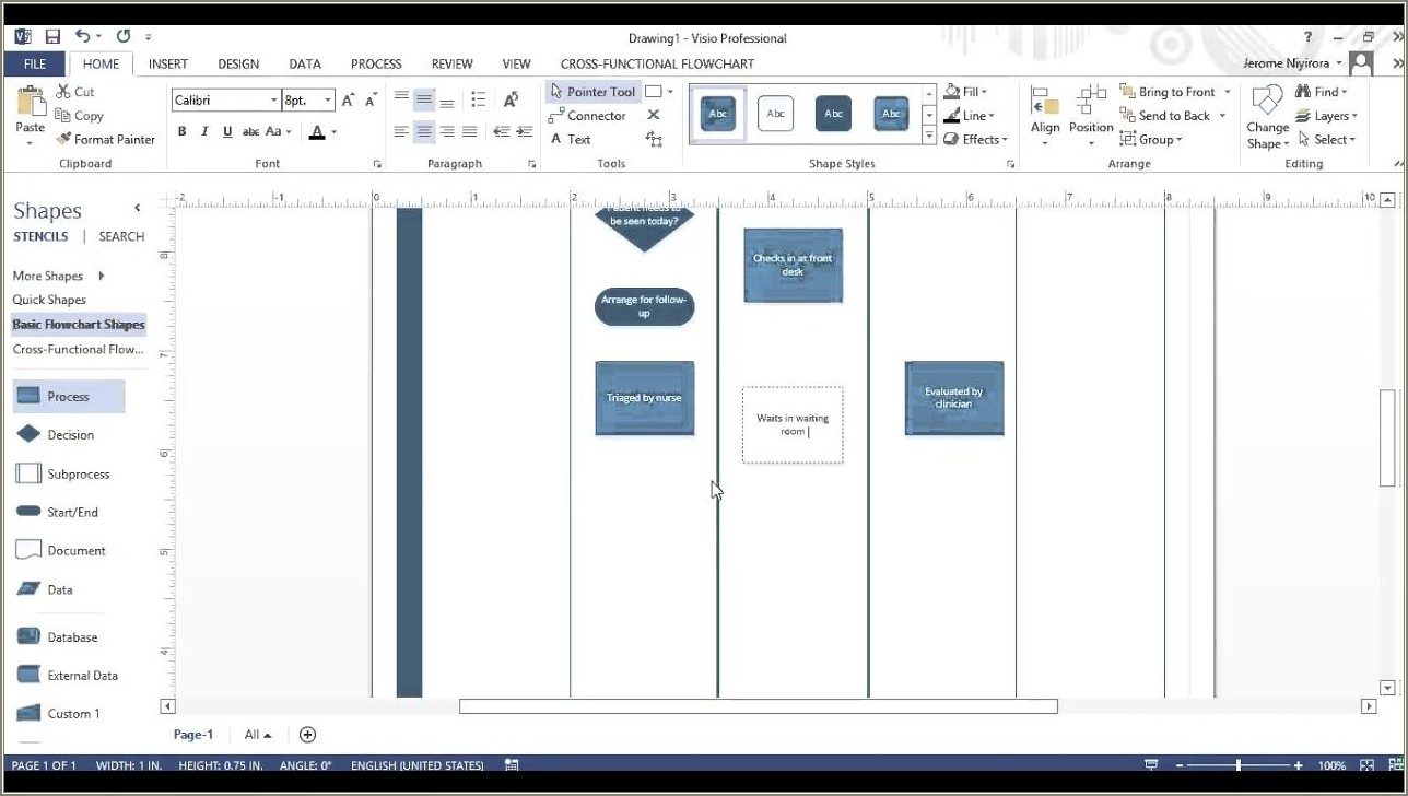 Swim Lane Diagram Template Visio