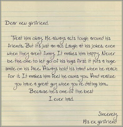 Thank You Letter To Ex Girlfriend