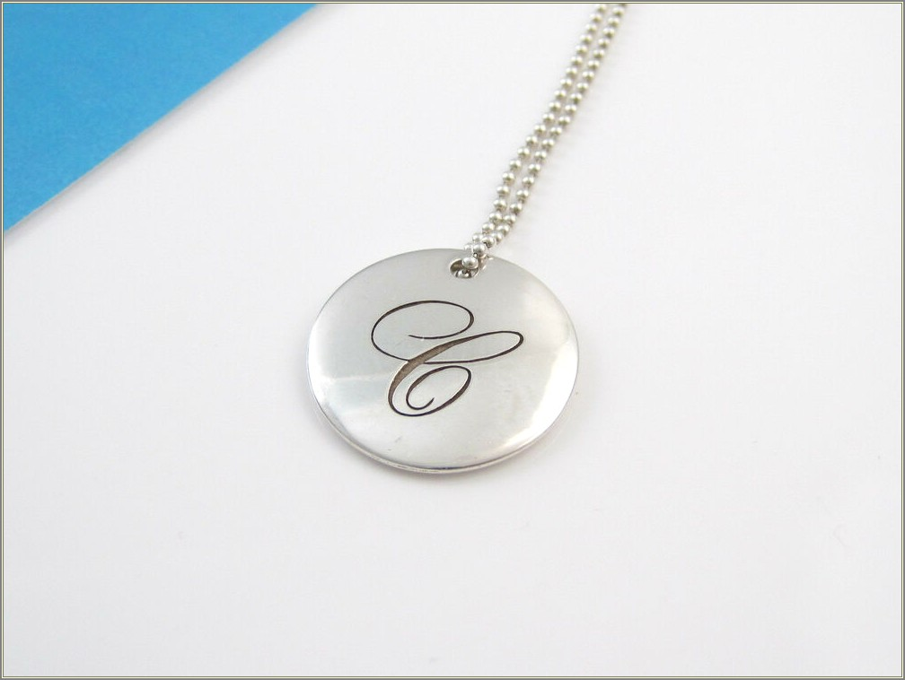 Tiffany Letter Necklace Silver