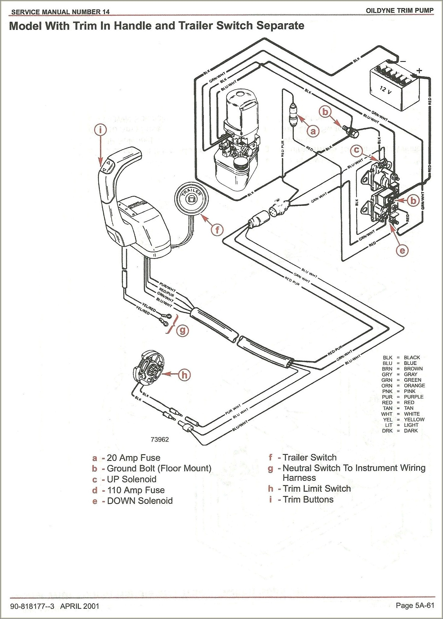 Tilt And Trim Switch Wiring Diagram