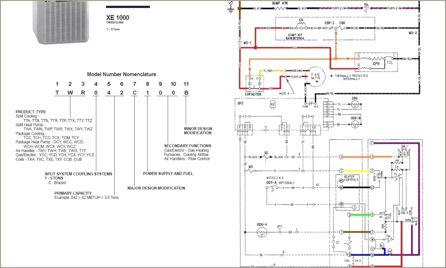Trane Ac Thermostat Wiring Diagram