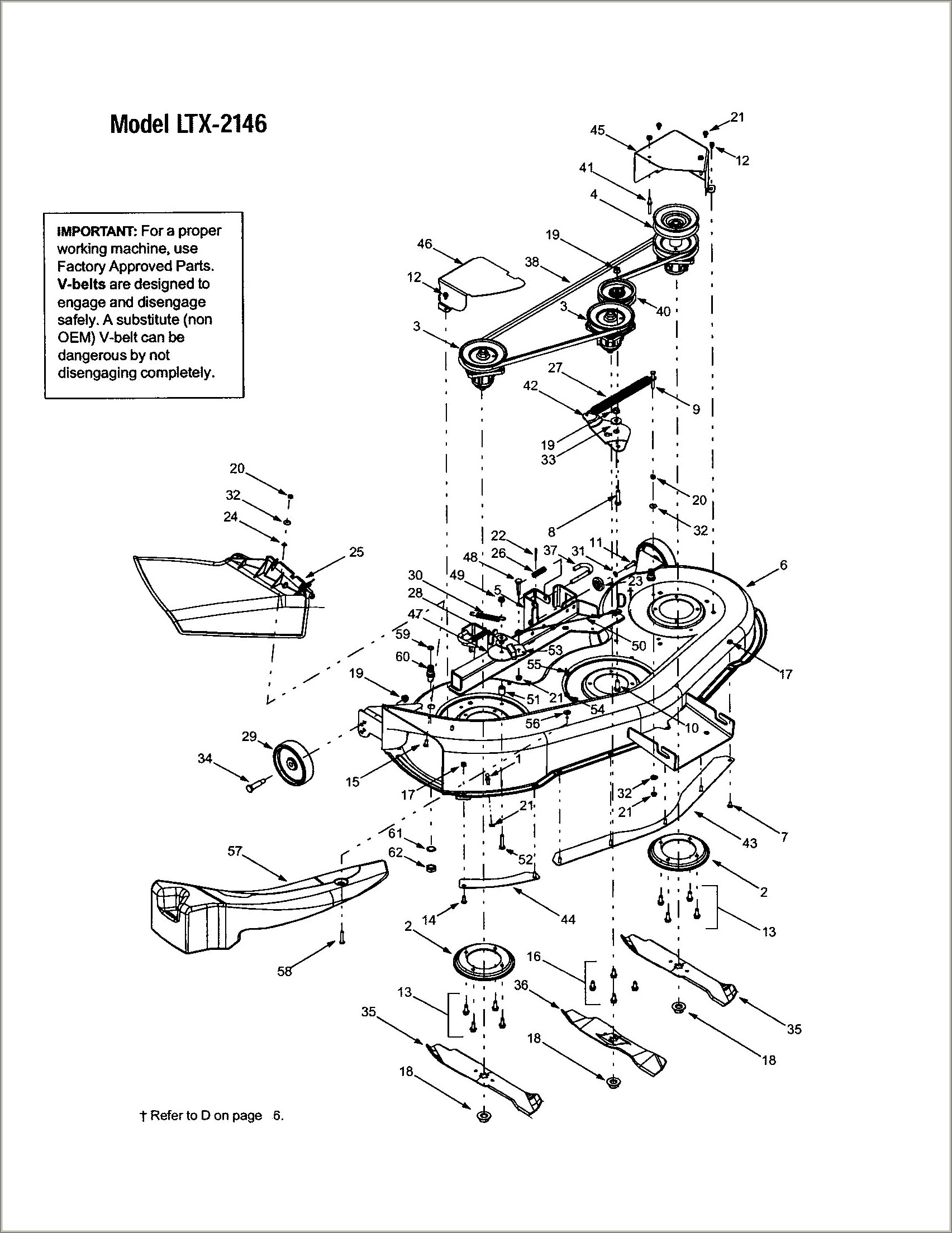 Troy Bilt Pony 42 Deck Belt Diagram